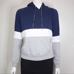 Zine Hoodie Sweater Sweatshirt Colorblock Small